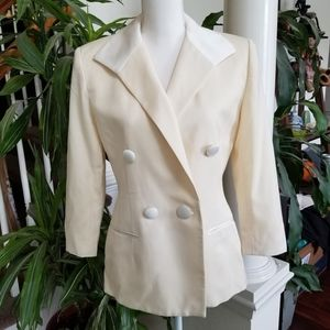 Christian Dior Vintage Double Breasted Blazer Sz 6